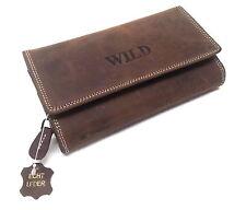 Damen Geldbörse Damenbörse Portemonnaie Kellner Börse Natur Leder Wild 72014