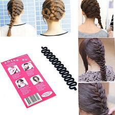Frisurenhilfe ZOPF Haarflechte Haarknoten Haar Haarklammer 20 cm  Schwarz