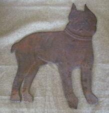 Antique Cast Iron Dog Ornament Bulldog or Boxer
