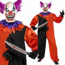 Bo Bo The Clown Costume Mens Scary Clown Fancy Dress Halloween PLUS Mask Smiffys
