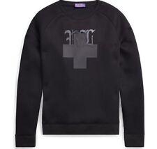$595 Ralph Lauren Purple Label Mens Black Scuba Jersey RL Sweatshirt Sweater NWT
