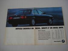 advertising Pubblicità 1989 BMW 324 TD