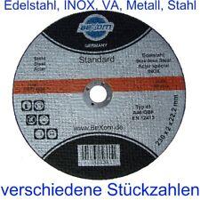 Trennscheibe 230 x 2 mm für Metall + INOX 230x2  Trennscheiben für Edelstahl NEU