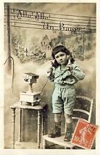 CARTE POSTALE FANTAISIE ENFANT TELEPHONE