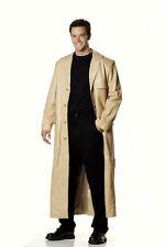 Leather Trench Coat Jacket Soft Lamb Skin for Men
