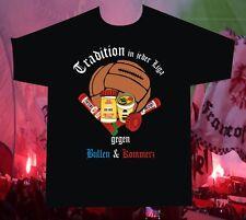 T-Shirt Tradition in jeder Liga gegen Bullen und Kommerz passend für Ultras Fans