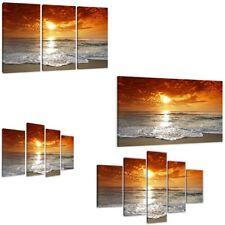 Strandbild auf Leinwand aufgespannte Bilder von Visario Kunstdruck 1505 D2