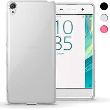 Brillante De TPU Gel caso para Sony Xperia XA F3111 2016 piel cubierta + protector de pantalla