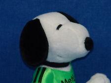 METLIFE INSURANCE GREEN SOCCER JERSEY SNOOPY PEANUTS DOG PLUSH STUFFED ANIMAL AD