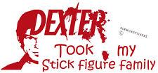 FUNNY STICK FIGURE FAMILY STICKER DEXTER STOLE MY STICK FIGURE FAMILY STICKER