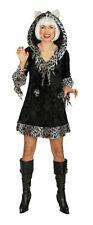 Kätzchen Kleid mit Kapuze Gr.36-50 Katze Damen Kostüm Tierkostüm Fasching
