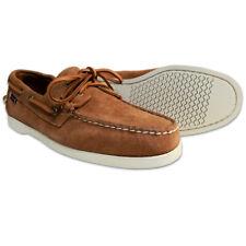 Mens Sebago Portland Suede Preppy Moccasin Docksides Boat Shoes