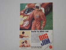 advertising Pubblicità 1973 BIG JIM PILOTA MATTEL