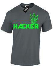 HACKER MENS T-SHIRT COOL COMPUTER PROGRAMMER IT NERD GEEK CODE CODING GAMER