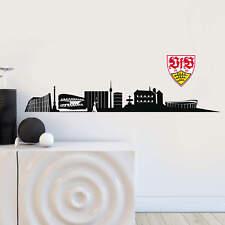 Wandtattoo VfB Stuttgart Skyline mit Logo farbig Fanartikel Fanshop Wanddeko