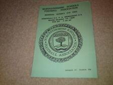 WORCESTERSHIRE SCHOOLS U19 FINAL - DEC 7 1998
