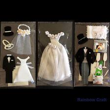 Paper Craft Accessories - Wedding Groom & Bride Married 16 topics (U select)