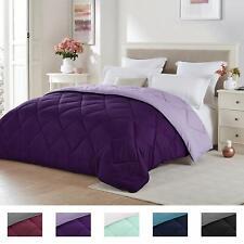 Seward Park Solid, Reversible Color Microfiber Comforter, Hypoallergenic Plush M