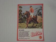 advertising Pubblicità 1978 BARBIE CAVALLERIZZA MATTEL