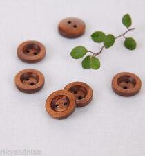 Craft Ideas Natural Wood Buttons zakka DIY assorted designs sewing scrapbooking
