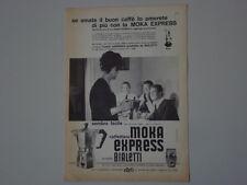 advertising Pubblicità 1962 CAFFETTIERA MOKA EXPRESS BIALETTI