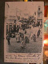 cpa maroc tanger rue principale animee