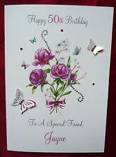 Personalised Handmade Birthday Card - 30th 40th 50th 60th 65th 80th 90th  (1575)