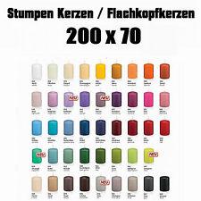 12 Stumpen Kerzen 200x70mm 1.Wahl RAL Qualität / Kerzen Wiedemann / Topseller