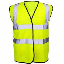 Mens High Visibility Workwear Vest Top Jacket Hi Viz Reflective Clothing Neon