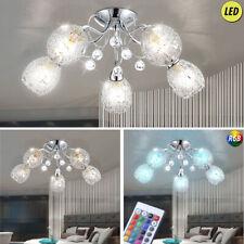 Plafonnier design LED cristaux de chrome salon RGB lampe TELECOMMANDE moderne