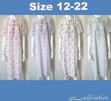 Plus Size Ladies Summer Pyjamas Short Sleeve Lightweight Cotton Nightie Sz 12-22