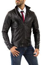 ★Giacca Giubbotto Uomo in di PELLE 100%★ Men Leather Jacket Veste Homme Cuir 37u