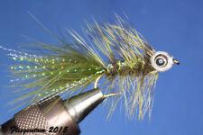 Fliegentom Streamer 3 Stück Fishmask Wooley Bugger dunkeloliv