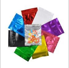 Colorful Clear Plastic Flat Aluminum Foil Zip Lock Bags Mylar Food Storage Pouch
