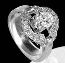 925 ECHT SILBER RHODINIERT *** Zirkonia Ring, Größenauswahl