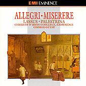 Allegri: Miserere; Lassus: Palestrina St John's College CD USED FREE SHIPPING