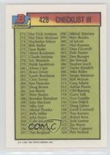 1991-92 Bowman #428 Checklist Hockey Card