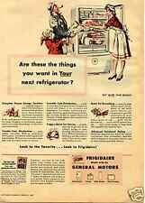 1945 Frigidaire by General Motors GM America's Favorite Refrigerator Print Ad