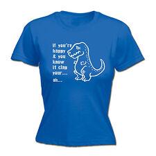 Feliz y usted lo sabe Clap Para Mujer Camiseta Dinosaurio T-Rex Top Gracioso Regalo De Cumpleaños