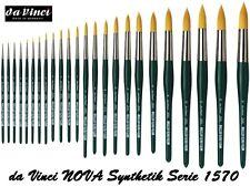 da Vinci Serie 1570 NOVA Aquarellpinsel golden Synthetik Größen 10/0 bis 30