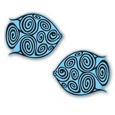 Tribal Fish Set of 2 Tattoo Tribal Design Car Vinyl Sticker - SELECT SIZE