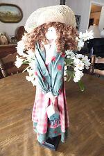 "Decorative Wood & Cloth Doll, 20"" Tall, Free Shipping!"