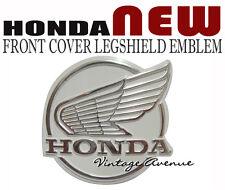 HONDA C50 C70 C90 FRONT COVER LEGSHIELD LOGO EMBLEM [WING] *OC9*
