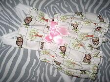 NEW Baby Girls Owls White Pink Short Bloomers Pantaloons Dungerees set Gift