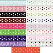 6mm x 5m Grosgrain Spots Polka Dots Ribbon Multi Colour Celebration