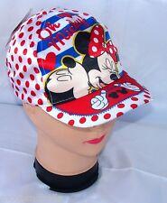 Minnie Disney cappello Premium con visiera Bambina Baseball tg 52 i 54 bianco
