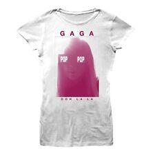 LADY GAGA - Ooh La La Pop Womens Jr (White) Pop Concert T-Shirt