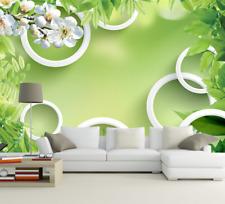 3D Mintgrün, Blumen 2477 Fototapeten Wandbild Fototapete BildTapete Familie DE