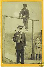 Real Photo Postcard RPPC Man & Ledger Books Boy Upright