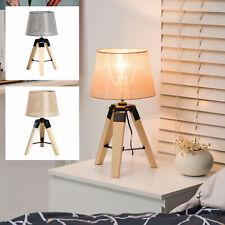 HOMCOM Tischlampe Tischleuchte Nachttischlampe E27 Leinenoptik Kiefer 2 Farben